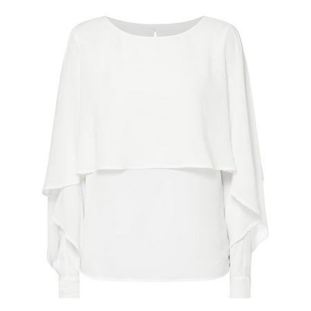 Flutter Sleeve Blouse White