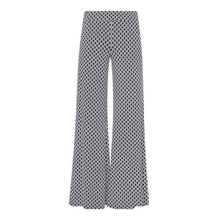 Textured Patterned Trousers Navy