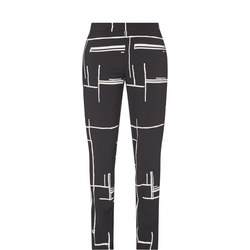 Printed Trousers Black