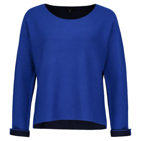 Turn Up Cuffs Pullover Blue