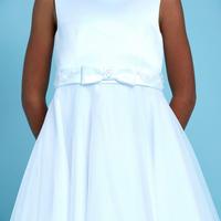 Embellished Bow Communion Dress White