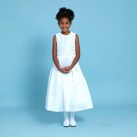 Lace Top Communion Dress White