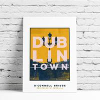 Dublin Town O'Connell Bridge Framed Print Multicolour