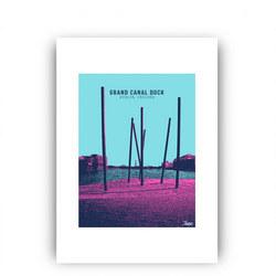 Grand Canal Dock Framed Print Multicolour