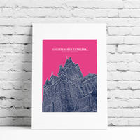Christchurch Cathedral Framed Print Multicolour