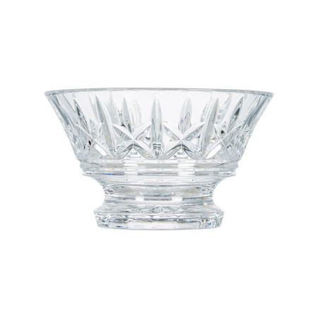 Plum Elmer Footed Bowl Clear