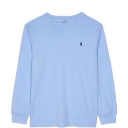 Boys Cotton Jersey Long Sleeve T-Shirt Blue