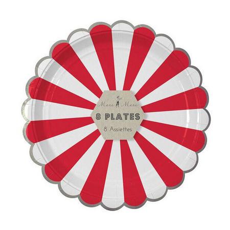 Striped 9-Inch Paper Plates Multicolour