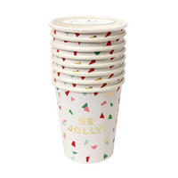 Be Jolly Paper Cups 8 Pack Multicolour