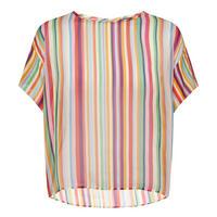 Striped Cropped Blouse Multicolour