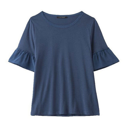 Flared Sleeve T-Shirt Navy