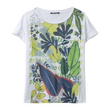 Leaf Print T-Shirt Multicolour