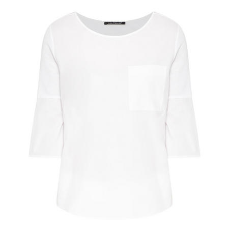 Flared Sleeve Cropped T-Shirt White