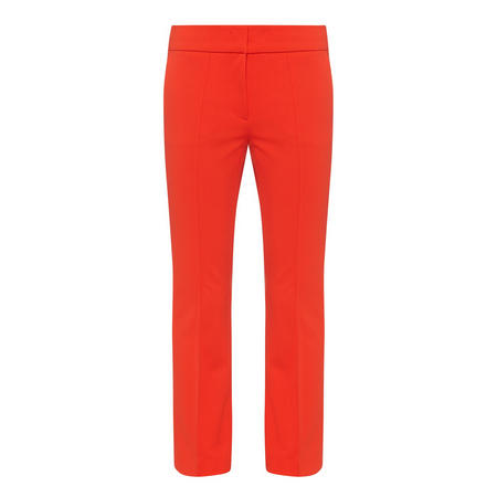 Centre Rib Slim Trousers Red