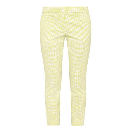 Straight Fit Textured Trousers Green