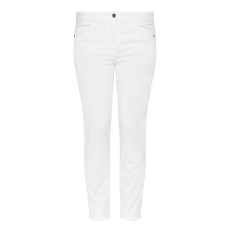 Crup Slim Trousers White