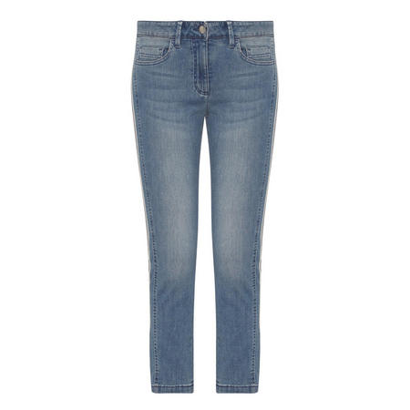 Faded Wash Slim Jeans Blue