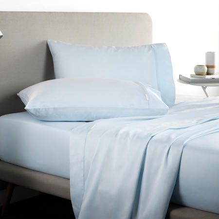 Tencel Fitted Sheet Blue