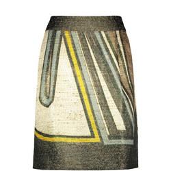 Printed Skirt Green