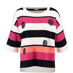Colour Block Stripe Sweater Multicolour