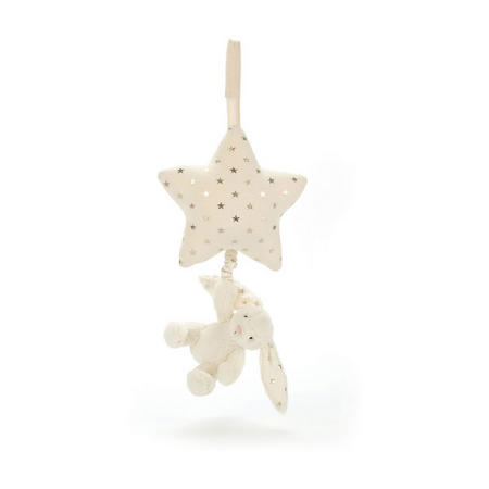 Twinkle Bunny Musical Pull White