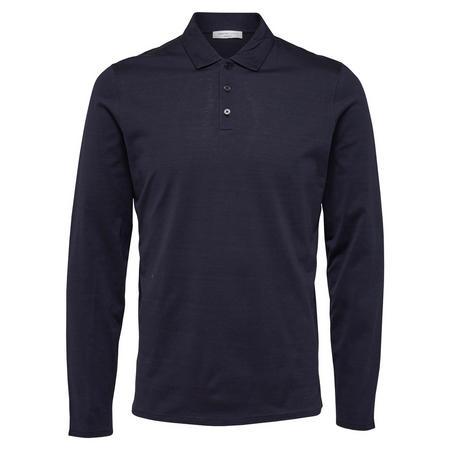 Blake Long Sleeve Polo Shirt Navy