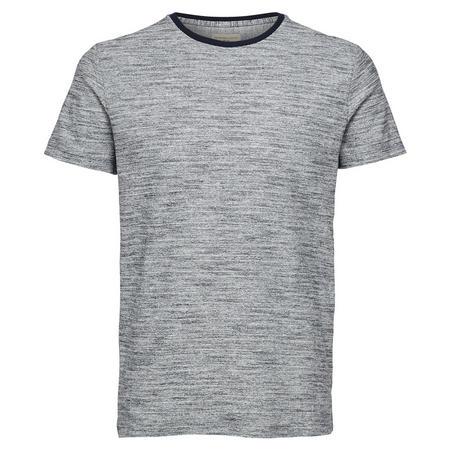 Melange Short Sleeve T-Shirt Navy