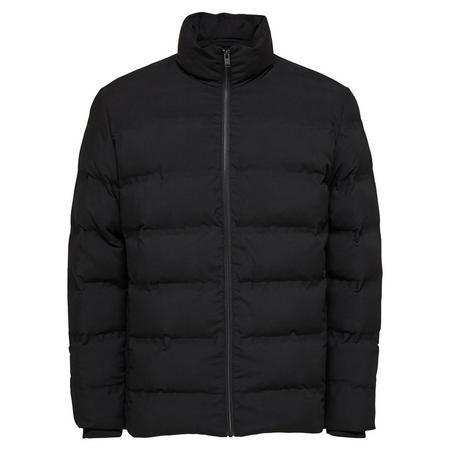 Zip Front Puffa Jacket Black
