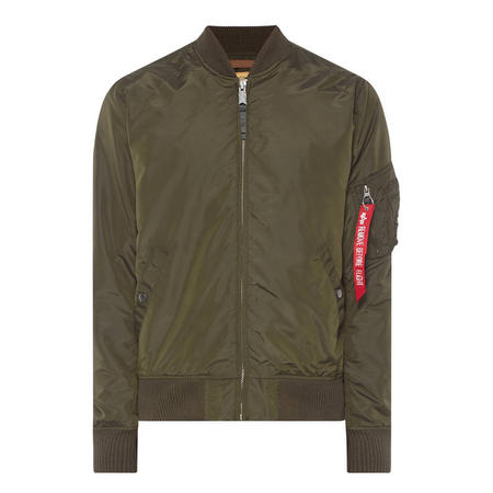 Zip-Through Bomber Jacket Green
