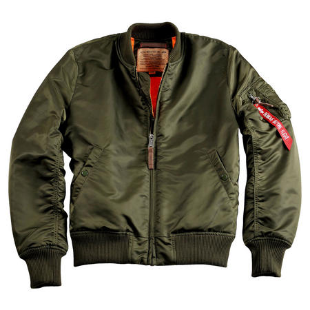 Reversible Zip Through Bomber Jacket Green