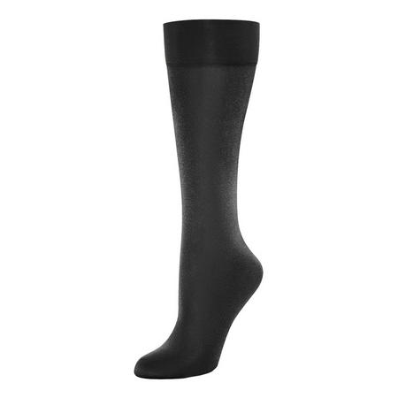 Satin Touch 20 Knee Highs Black