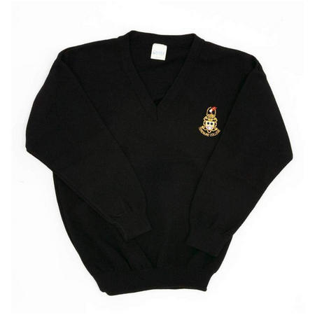 Crested School Jumper Black
