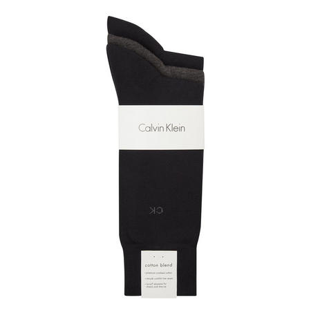 Three-Pack Cotton Socks Navy