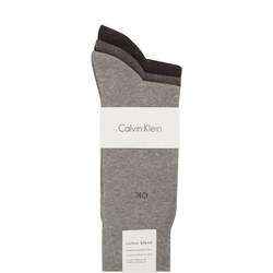 Three-Pack Cotton Socks Grey