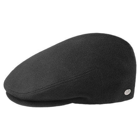Lord Solid Flat Cap Black
