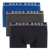 Three-Pack Cotton Stretch Trunks Blue