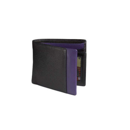 Colour Strip Jeans Wallet Purple