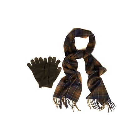 Scarf and Gloves Gift Set Green