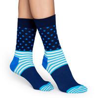 Stripes & Dots Socks Blue