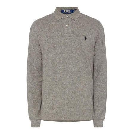 Long Sleeve Embroidered Logo Polo Shirt