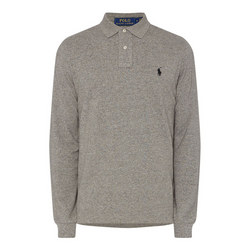 Long Sleeve Embroidered Logo Polo Shirt