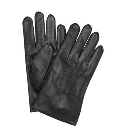 Mendip Wool Lined Leather Gloves Black