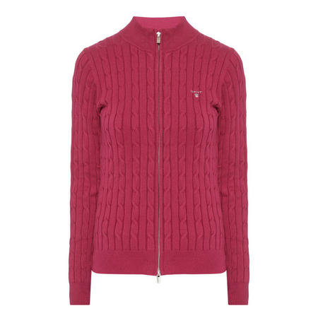 Cable Knit Zip-Through Sweater