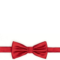 Satin Bow Tie Red