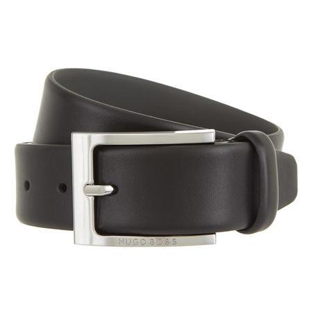 Barnabie Grained Leather Belt Black