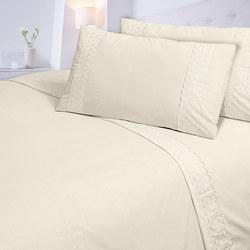 Lace Edge Sheet Set Cream
