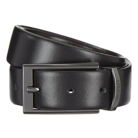 Elvio-U Leather Belt Black