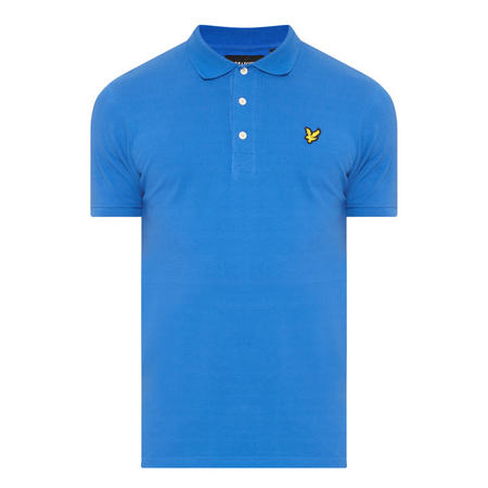 Logo Short Sleeve Polo Shirt Blue