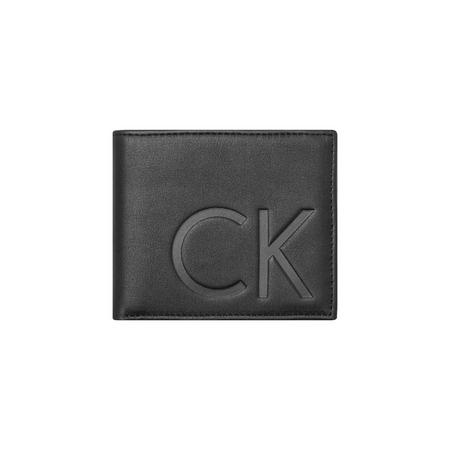 Initialled Slim Leather Wallet Black