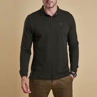 Long Sleeve Polo Shirt Green
